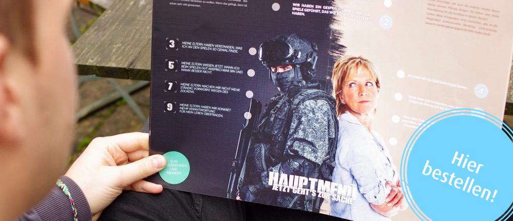 »Battlefield home« Broschüre für Eltern und Jugendliche